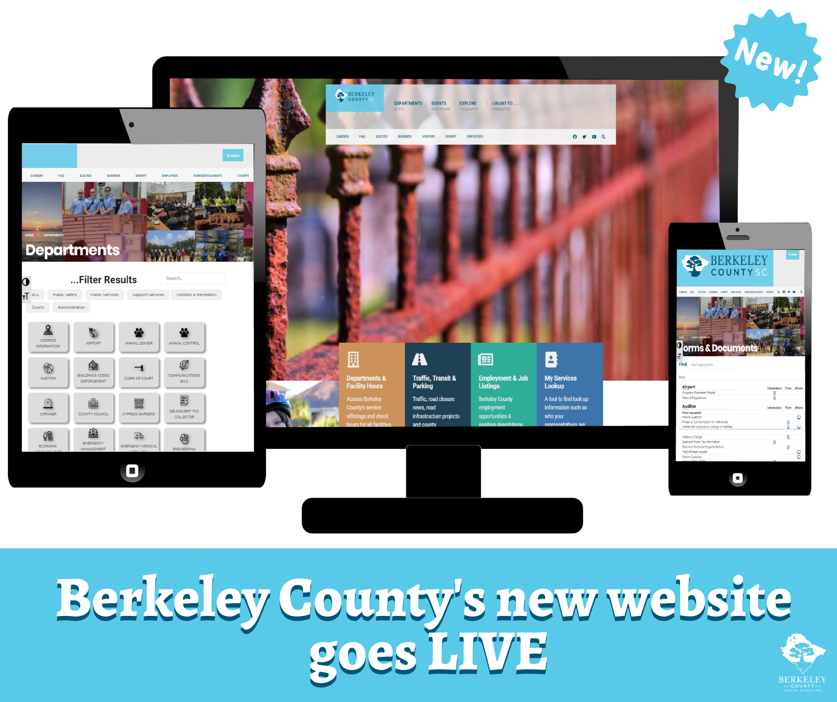 Berkeley County Government and Sheriff's Office Launch New Websites